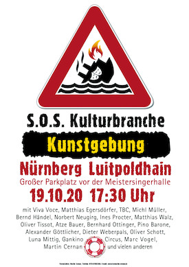 SOS-Plakat Kunstgebung