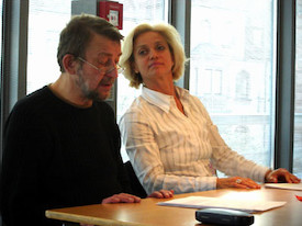 Friedhelm Kröll und Adeline Schebesch